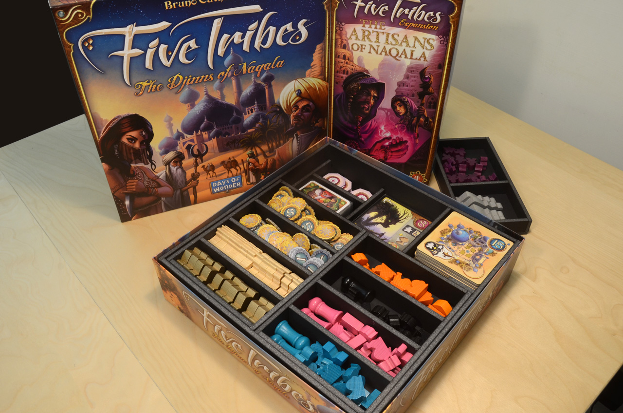 Five Tribes五大部落桌遊收納盒 Five Tribes board game insert